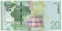 Банкнота 20 добр. 2016 год, Сан-Томе и Принсипи.
