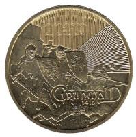 600 лет Грюнвальдской битвы. Монета 2 злотых, 2010 год, Польша.