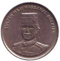 Султан Хассанал Болкиах. Монета 10 сенов. 2000 год, Бруней.