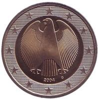 Монета 2 евро. 2004 год (D), Германия.