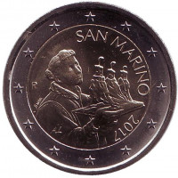 Монета 2 евро. 2017 год, Сан-Марино.