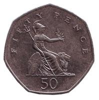 Монета 50 пенсов. 2007 год, Великобритания.
