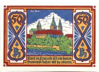 Собор. Нотгельд Оснабрюка. 50 пфеннигов. 1921 год, Веймарская республика (Германия).