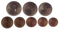 Набор монет Таджикистана (8 шт.) 2001 год, Таджикистан.