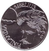 Ян Сибелиус. Монета 100 марок. 1999 год, Финляндия.