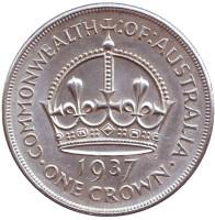 Корона. Монета 1 крона. 1937 год, Австралия.