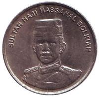 Султан Хассанал Болкиах. Монета 10 сенов. 2004 год, Бруней.