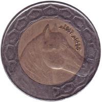 Лошадь. Монета 100 динаров. 2007 год, Алжир.