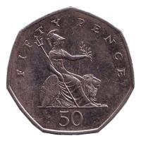 Монета 50 пенсов. 2008 год, Великобритания.